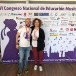 """Nuestra compañera Ana Pérez con el director del VI Congreso Nacional de Educación Musical Congreso """"Con Euterpe"""", Borja Velázquez"""